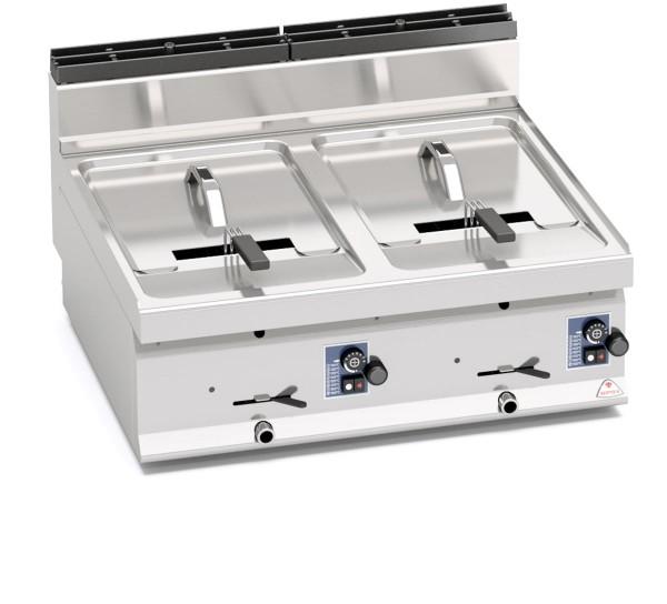 Gastro Gas- Fritteuse als Tischgerät 2x 10 Liter 13,8kW