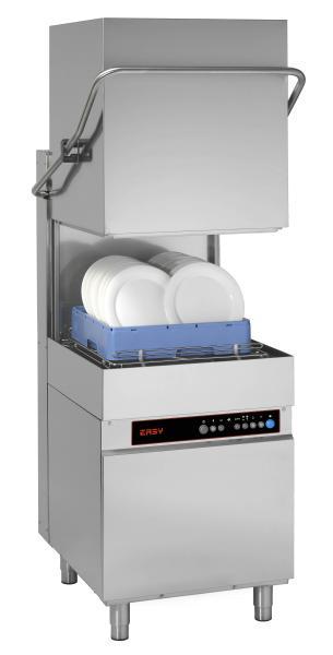 Gewerbliche Haubenspülmaschine für Teller 400V  Korb 500 x 500 mm
