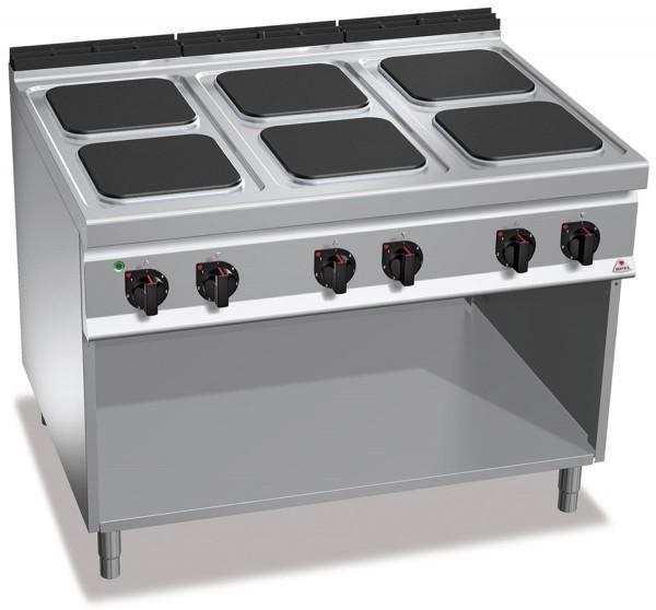 Bertos Gastro Elektroherd mit 6 Platten 30x30cm Leistung 21kW, 6x 3,5kW , 900er Serie