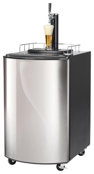 Bierkühler 1-türig 128 Liter mit Zapfhahn