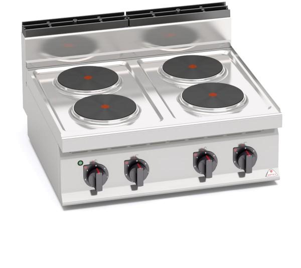 Bertos Gastro Elektroherd mit 4 Platten als Standgerät Leistung 10,4kW