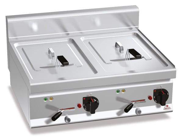 Bertos Gastronomie Elektro-Fritteuse mit zwei 10 Liter Wannen als Tischgerät 18kW