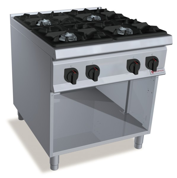 Professionelle Gastronomie Gasherd 4 Brenner  48kW Serie S900er