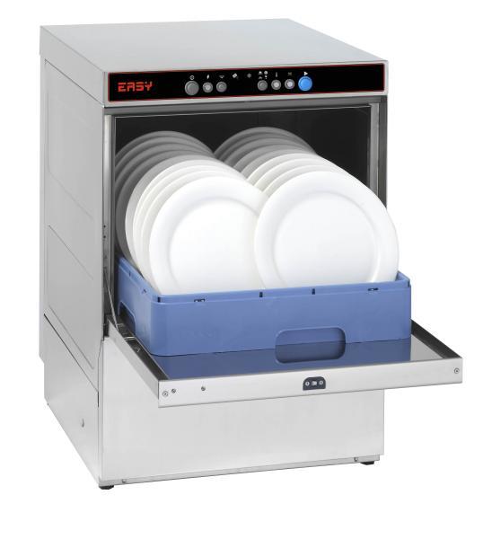 Gewerbliche Geschirrspülmaschine offen für Teller 230V mit Ablaufpumpe Korb 500 x 500 mm
