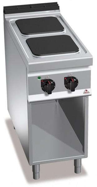 Bertos Gastro Elektroherd mit 2 Platten 30x30cm Leistung 2x 3,5kW 900er Serie