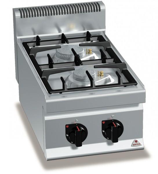 Gastro Gasherd mit 2 FlammenTischgerät Serie 700er ECO-POWER Leistung 9,5kW