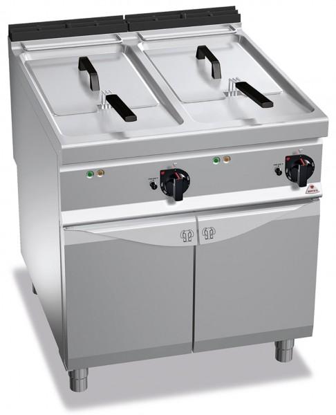 Bertos Gastronomie Elektro-Fritteuse mit zwei 22 Liter Wanne als Standgerät 2x 18kW