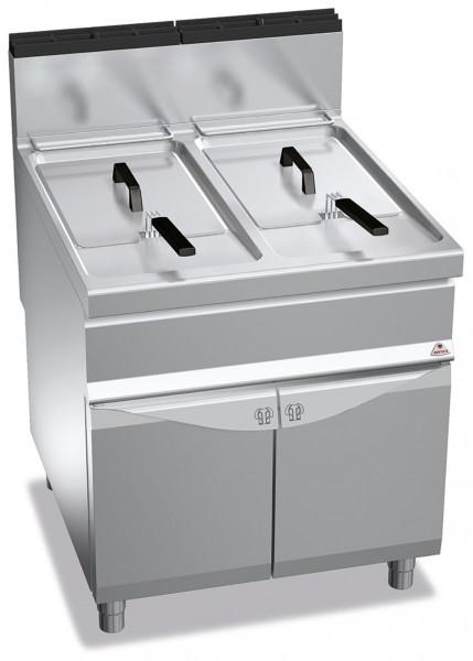Bertos Gastro Gasfritteuse mit zwei Wannen mit je 20 Liter und der Gesamtleistung 35kW