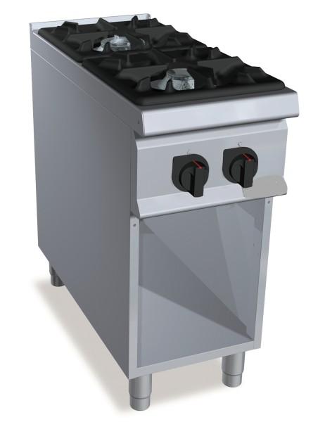Professionelle Gastronomie Gasherd 2 Brenner  24kW Serie S900er