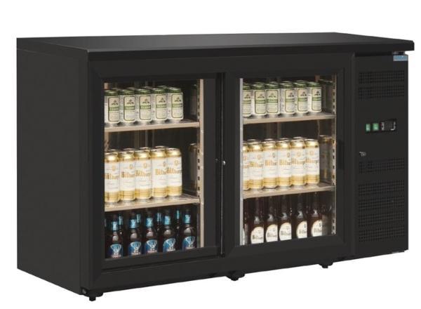 Barkühlschrank mit 2 Glastüren 350 Liter
