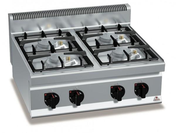Gastro Gasherd Tischgerät mit 4 Brenner  der Serie 700er Eco Power Leistung 21,5kW