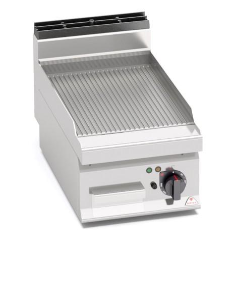 Gastronomie Elektro Tisch-Grillgerät Gerillte Bratenplatte 4,8kW
