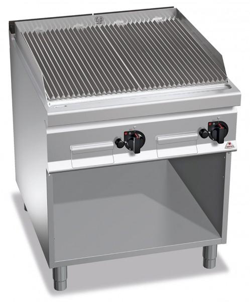 Gastro Gas-Lavasteingrill mit V-Profil Roste Leistung 18kW 900er Serie