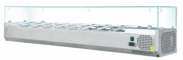 Kühlaufsatz 2000mm für 9x GN 3 aus Edelstahl für Pizzeria