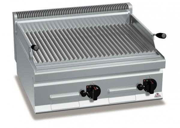 Gastro Gas-Lavasteingrill mit V-Profil Roste Leistung 13,8kW