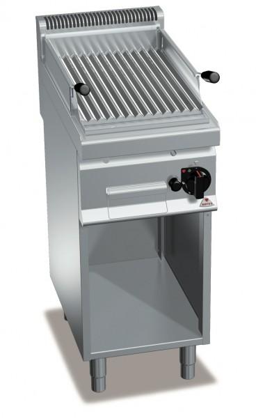 Gastro Gas-Lavasteingrill mit V-Profil Roste Leistung 6,9kW
