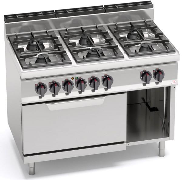 Gastronomie Gasherd mit Elektrobackofen Gas 31,5kW und E-Ofen 380V/ 7,5kW HIGH-POWER