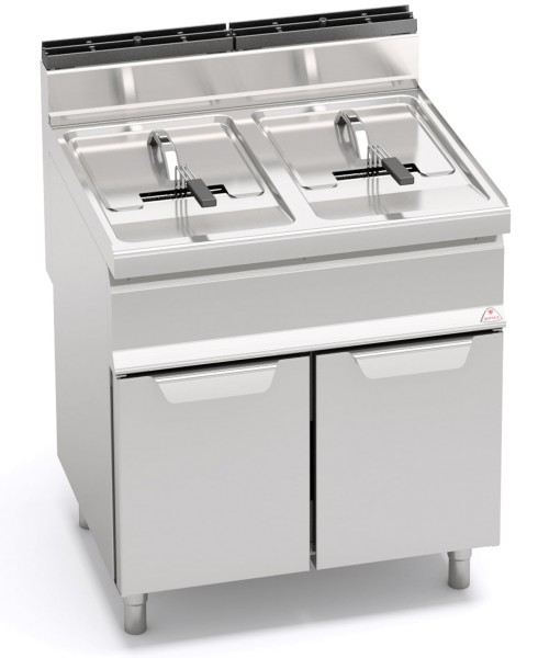 Bertos Gastro Gasfritteuse Standgerät mit 2 x 15Liter und der Leistung 25,4kW