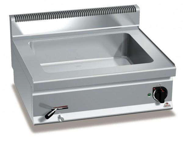 Bertos Gastronomie Wasserbad mit einer GN2/1 Wanne als Tischgerät 3kW