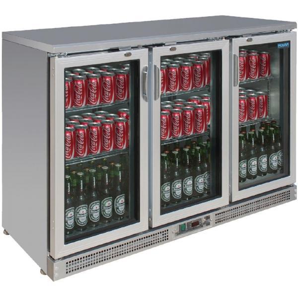 Barkühlvitrine mit 3 Glastüren 350 Liter