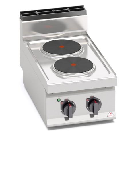 Gastronomiebedarf Elektroherd mit 2 Platten als Tischgerät Leistung 5,2kW