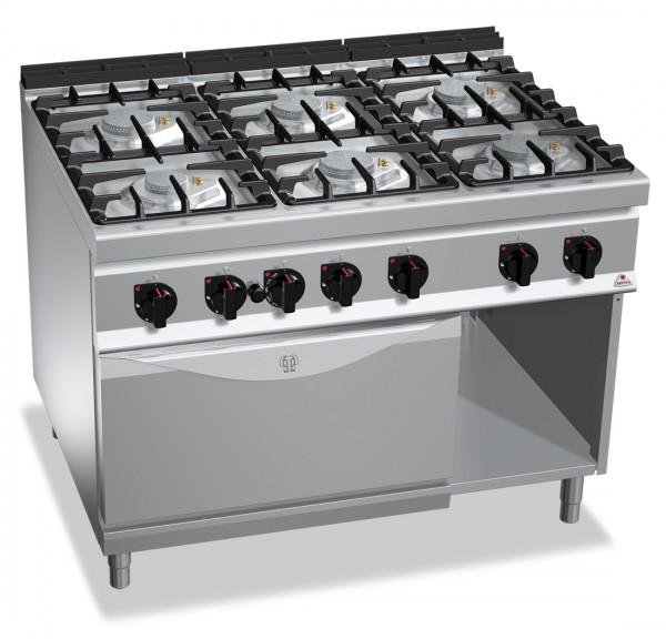 Gastronomie Gasherd mit Gasbackofen ECO-POWER 55,8kW mit Pilotflamme