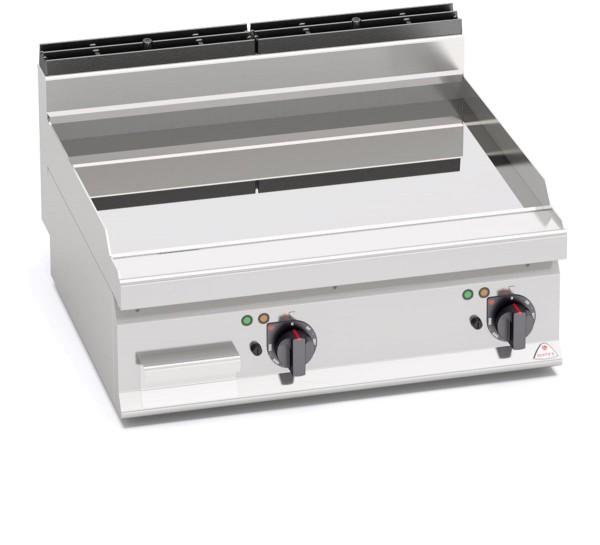 Gastro Elektro Grillgerät Glatte/Chrom BratenplatteTischgerät Leistung 9,6kW