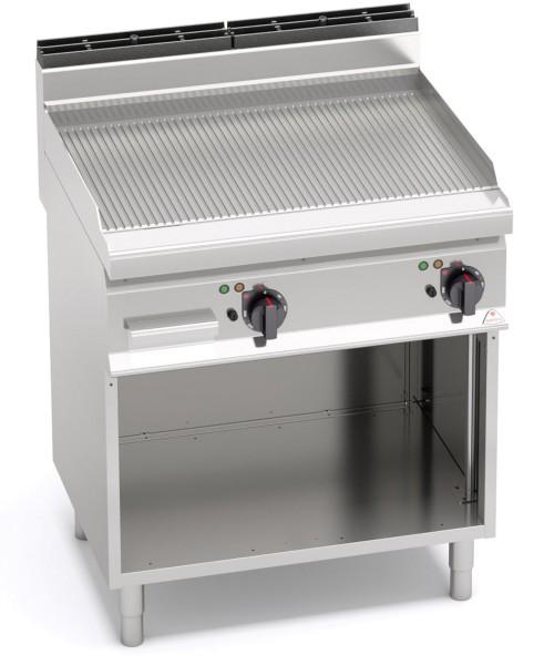 Günstige Gastronomie Elektro-Grillgerät Gerillte Bratenplatte 9,6kW