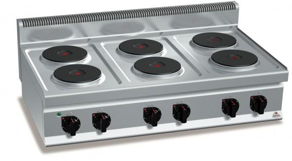 Bertos Gastro Herd Elektro Tischherd mit 6 Platten Leistung 15,6kW