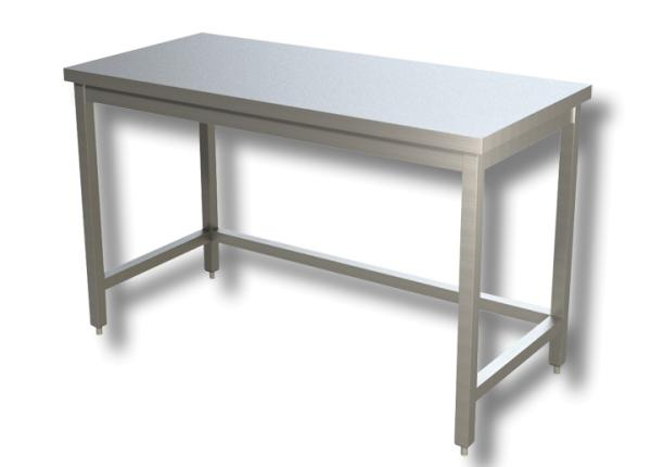 Gastro Arbeitstisch Edelstahl ohne Boden B 1200 x T 700 x H 850 mm