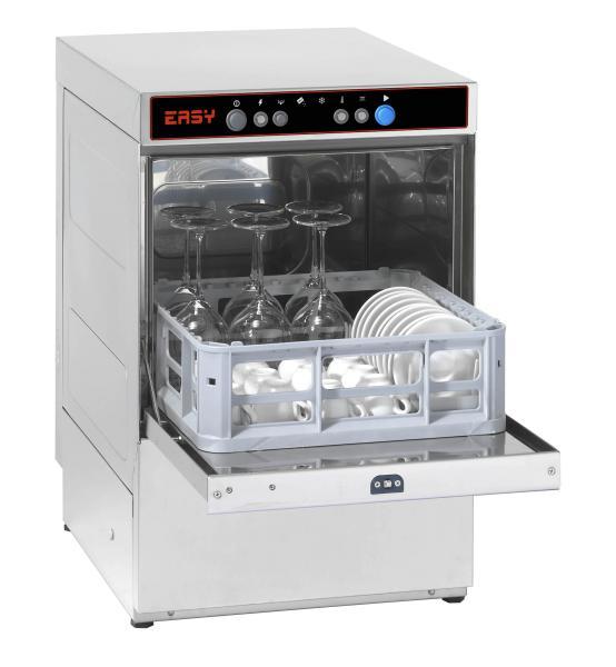 Gewerbliche Gläserspülmaschine offen für Gläser 230V Korb 350 x 350 mm
