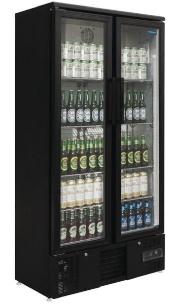 Barkühlvitrine mit 2 Glastüren 490 Liter