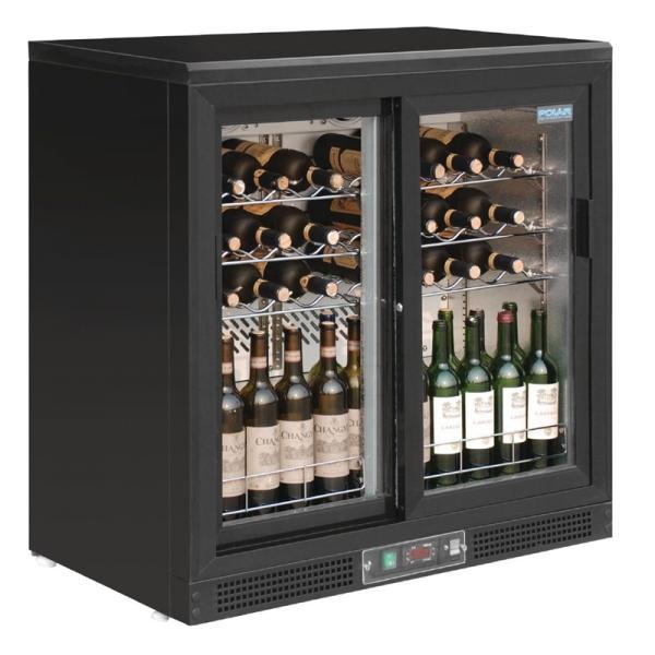 Günstige Weinkühlschrank mit Schiebetüren für 56 Flaschen
