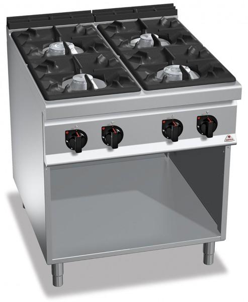 Professionelle Gastronomie Gasherd 4 Brenner 34,5kW HIGH POWER