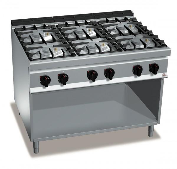 Gastronomie Gasherd ECO-POWER 48kW mit Pilotflamme