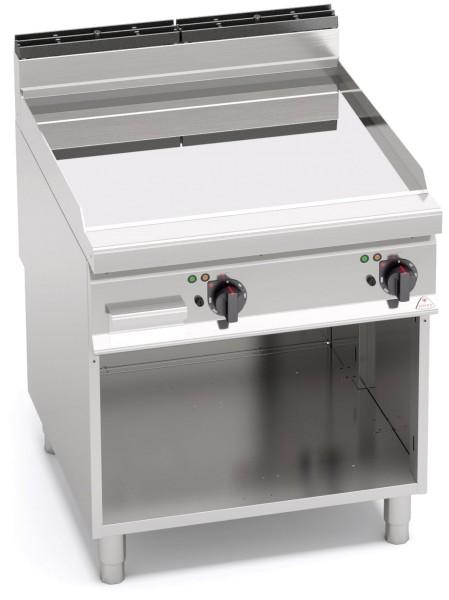 Gastrogeräte Günstig Elektrogrill Chrom hochglänzendem Finish Glatte Bratenplatte Standgerät Leistung 11,4kW