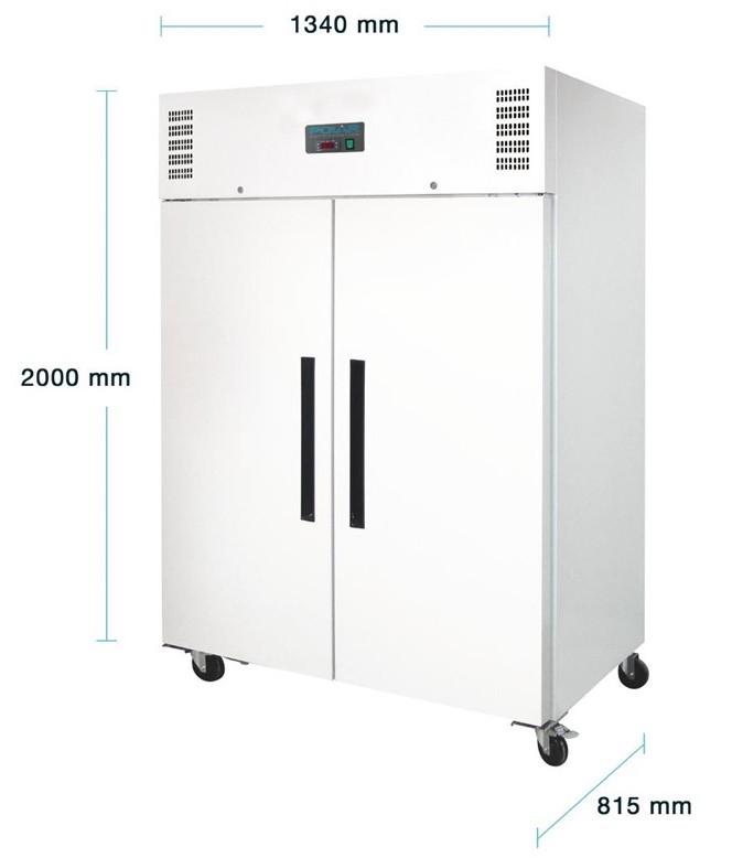 ACD6161 Gefrierschrank 1200Liter Weißem Stahl