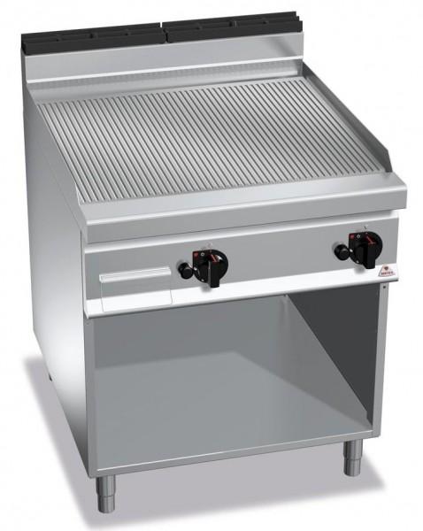Gastro Gasgrill Gerillte Bratplatte Standgerät  20kW Serie 900er