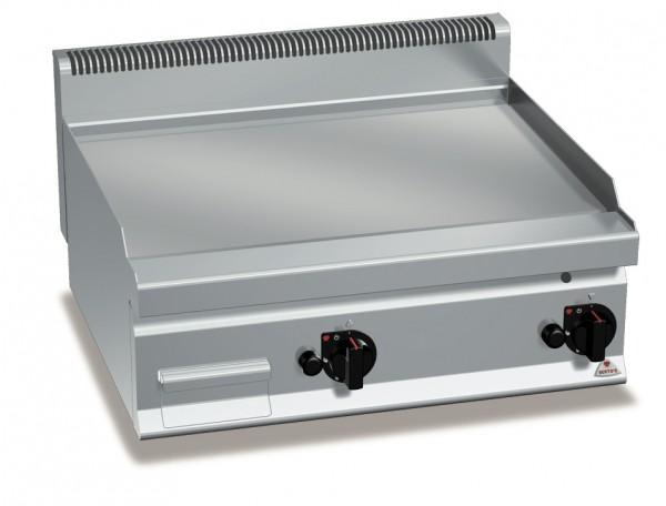 Gastro Gas-Grillplatte Glatt-Chrom 13,8kW
