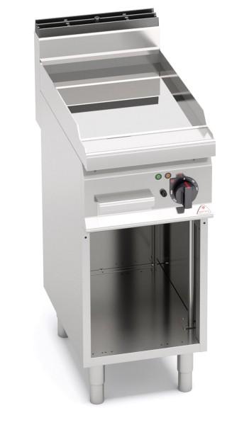 Gastro Elektro Grillgerät Glatte/Chrom Bratenplatte Standgerät Leistung 4,8kW