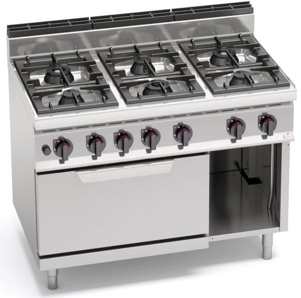Gastronomiebedarf Gasherd 39,3kW HIGH-POWER mit Gasbackofen 7,8kW