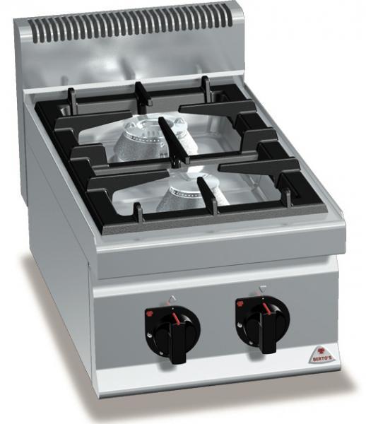 Gastro Gasherd mit 2 Flammen als Tischgerät der Serie 700er MAX-POWER Leistung 14kW