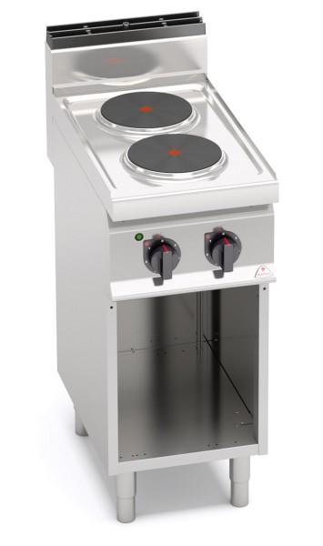 Bertos Gastro Elektroherd mit 2 Platten als Standgerät Leistung 5,2kW