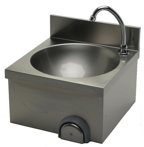 Gastrotecno Handwaschbecken mit Kniebedienung B 400 x T 400 x H 235 mm