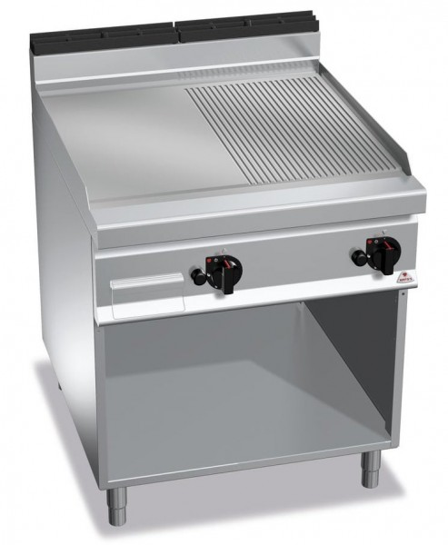 Gastro Gasgrill Glatt-Gerillte Bratplatte 20kW Serie900er