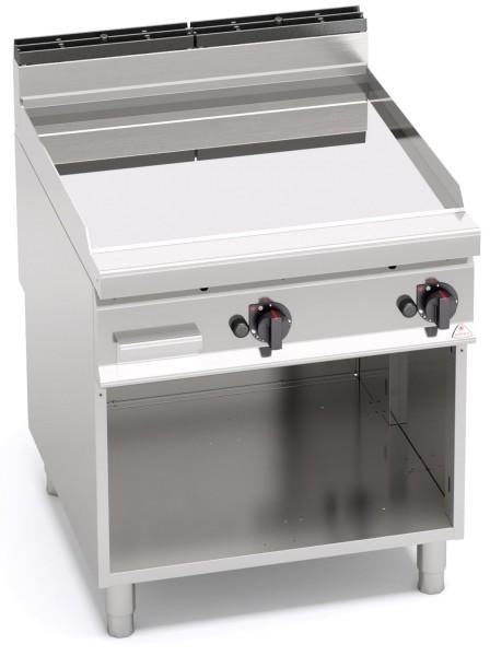 Gastro Gasgrill Glatte glänzende Finish Bratplatte Standgerät 13,8kW