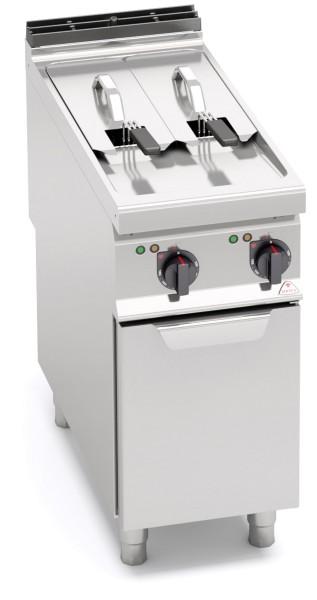 Bertos Gastronomie Elektro-Fritteuse 2x 7 Liter Wanne als Standgerät 16kW