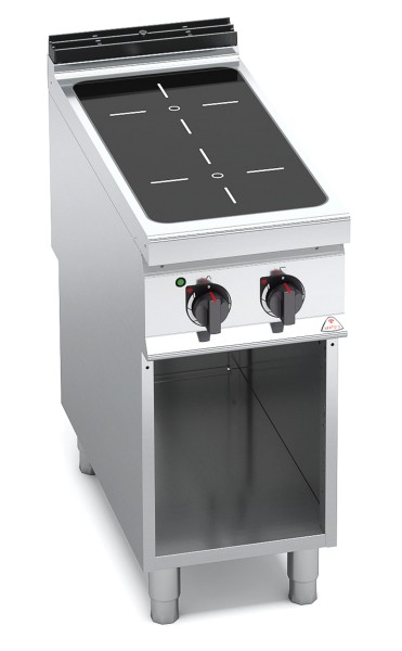 Bertos Gastro Infrarot-Herd mit 2 Kochfeld als Standgerät Leistung 2x 4kW