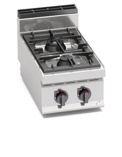 Gastro Gasherd mit 2 Flammen als Tischgerät der Serie 700er HIGH-POWER Leistung 10,5 kW