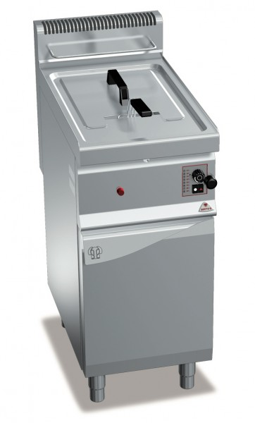 Gastronomie Gas Fritteuse als Standgerät mit einer Wanne 10 Liter 6,9kW